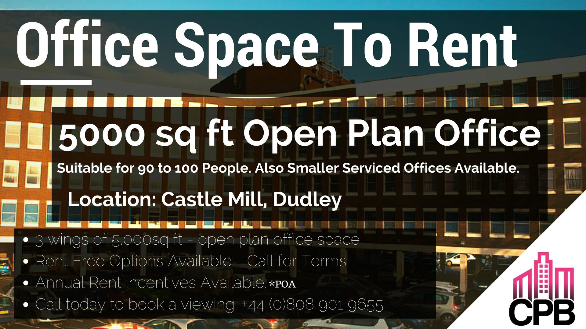 Office Space for Rent Castle Mill, Dudley DY4