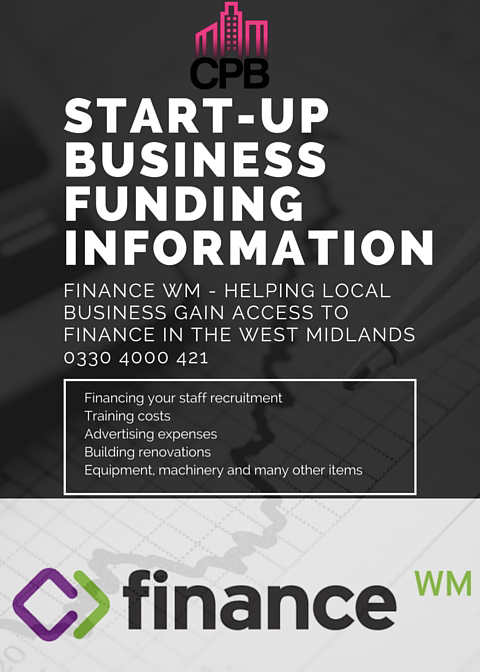 Start-Up Business Funding Information Finance WM - Helping local business gain access to finance in the West Midland