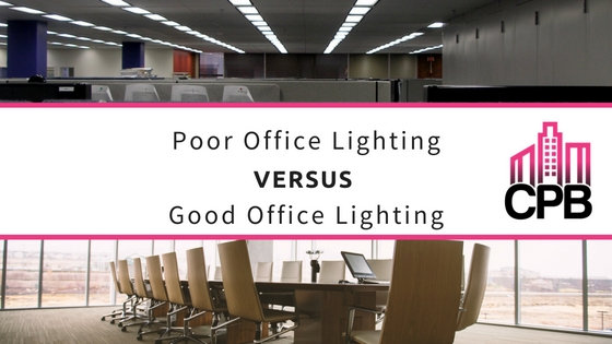 Poor Office Lighting vs Good Office Lighting